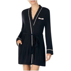 KATE SPADE NEW YORK JERSEY ROBE IN BLACK NWT